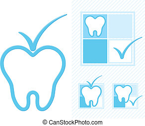 dentistry logo - set of dental logotype in vector format...
