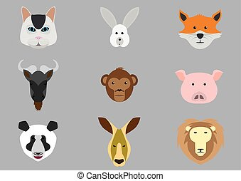 Icons with animals