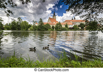 Telc Town Spring Tel City in Czech Republic - Bohemia in...