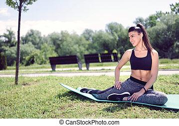 Workout on Grass