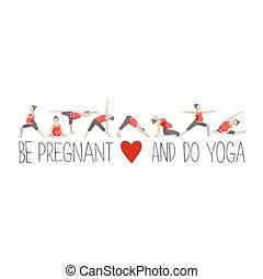 Banner for advertising pregnant yoga.