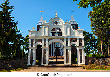Wooden Church of the Divine Providence in Antazave,...