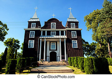 Church of the Divine Providence in Antazave, Lithuania -...