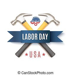 Labor Day USA, background template - Labor Day background...