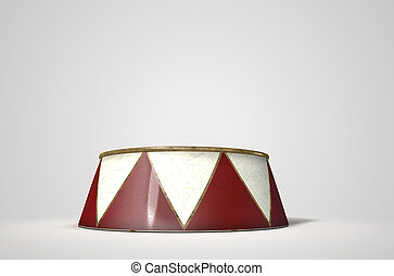 Circus Podium Isolated - A 3D render of an empty ringmasters...