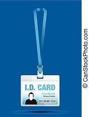 id card man in blue