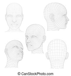 Head of a Girl - Vector illustration of a girl's head from...