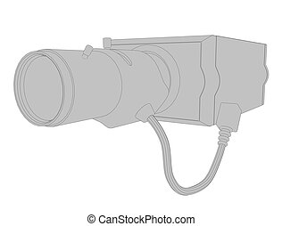 Security Camera - Vector illustration of a surveillance...