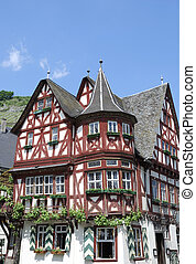 Half-timbered house in Bacharach (Germany)