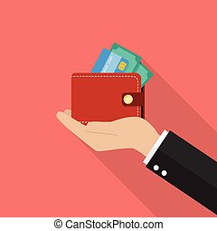 Hand with wallet