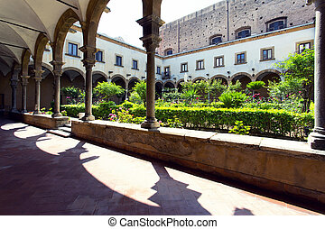 Cloister of St. Augustin church in Palermo