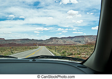 Driving through in Utah North America