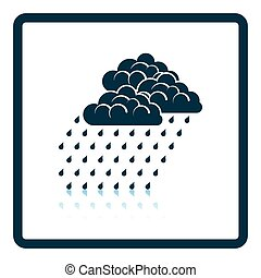 Rainfall icon. Shadow reflection design. Vector...