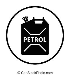 Fuel canister icon Thin circle design Vector illustration