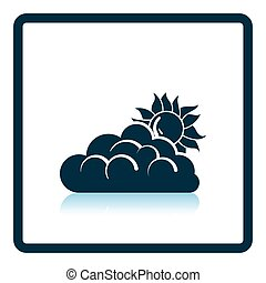 Sun behind clouds icon