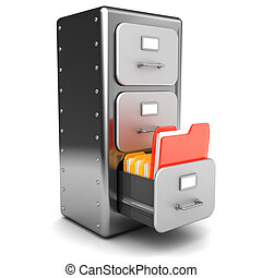 urgent folder - 3d illustration of urgent file folder in...