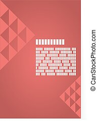 Red background for brochure or cover