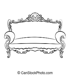 Royal Sofa with classic ornaments