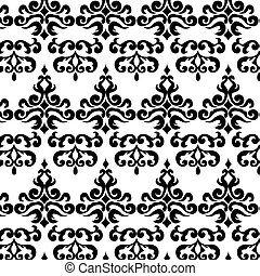 Classic style ornament pattern in black Vector