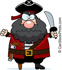 Angry Pirate - A cartoon pirate with an angry expression.