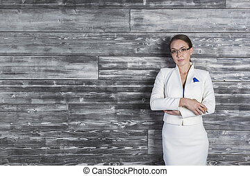 Businesswoman with folded arms - Confident businesswoman...