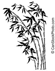 Bamboo silhouette with clipping path
