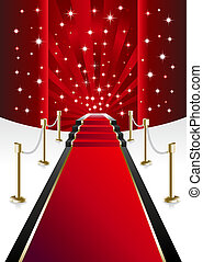 Red Carpet with clipping path