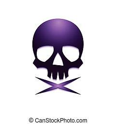 violet skull crossbone-01 - Skull with Crossbones Logo...