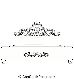Royal Bed with damask ornaments