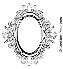 Baroque royal frame with ornaments
