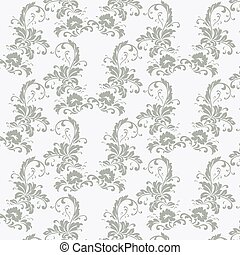 Vintage pattern with peonies - Vintage pattern with peony...