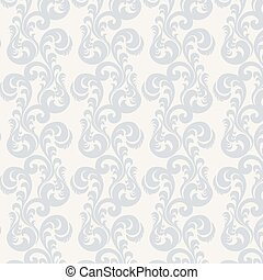 Classic style acanthus ornament pattern beige and blue...
