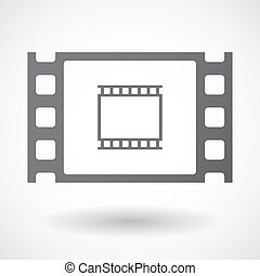 Isolated celluloid film frame icon with a photographic 35mm...