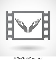 Isolated celluloid film frame icon with - Illustration of an...