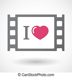 "Isolated celluloid film frame icon with an "" I like"" glyph -..."