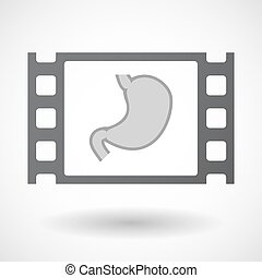 Isolated celluloid film frame icon with a healthy human...