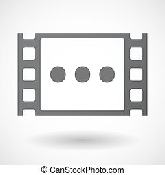 Isolated celluloid film frame icon with an ellipsis...