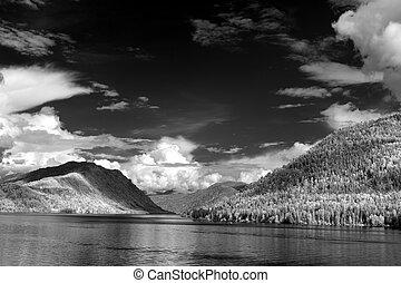 Teletskoe lake, Altai State Natural Biospheric Reserve,...