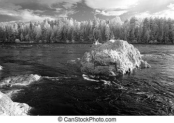 Altai , Katun river, Russia.