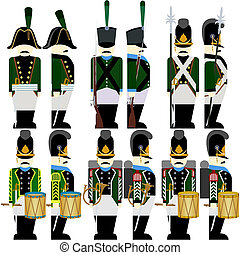 Military Uniforms Army Bavaria in 1812-4 - Soldiers of the...