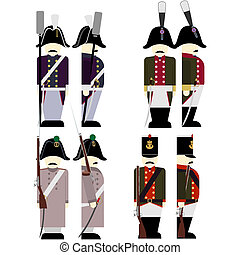 Military Uniforms Army France in 1812-3 - French Army...