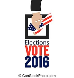 USA Elections Vote 2016 Concept. Illustration