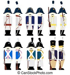 Military uniforms of Prussia - Prussian Army soldiers in...