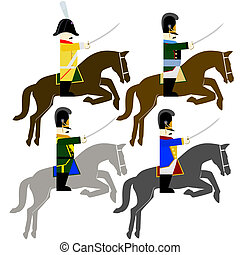 Military Uniforms cavalry army of Bavaria in 1812 - Soldiers...