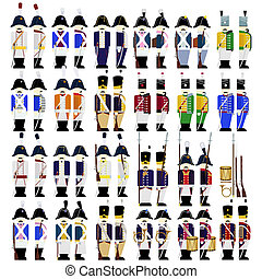 Military uniforms of the army of Prussia in 1812 - Prussian...