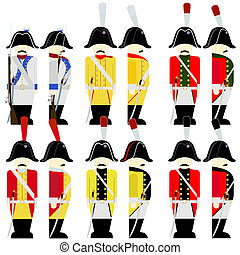Military uniforms of the army of Saxony in 1812-1 - Soldiers...