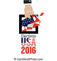 USA Elections Vote 2016 Concept Vector Illustration