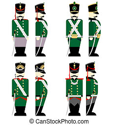 Military Uniforms Russian army in 1812 - Army soldiers in...