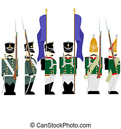 Military Uniforms Russian army in 1812-3 - Army soldiers in...