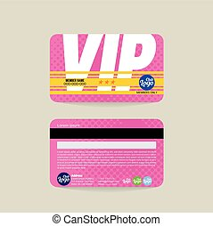 VIP Member Card Template Vector - Front And Back VIP Member...